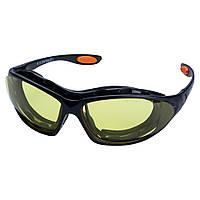 Набор очки защитные с обтюратором и сменными дужками Super Zoom anti-scratch, anti-fog (янтарь) SIGMA, фото 1