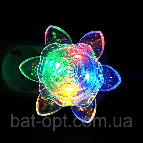 Светильник-ночник LED Роза светодиодный 220V