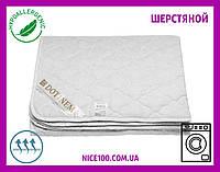 Наматрасник 160х200 на резинке стёганый WOOLTEX Вултекс Сатиновый Шерстяной