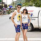Молодежные удлиненные шорты Qike. Цвет: синий, фото 5