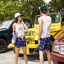 Молодежные удлиненные шорты Qike. Цвет: синий, фото 6