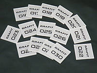 Номерок наcтенный с подложкой 50*50 мм