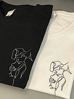Любовные парные футболки . Парные футболки для двоих . Крутые футболочки для пары