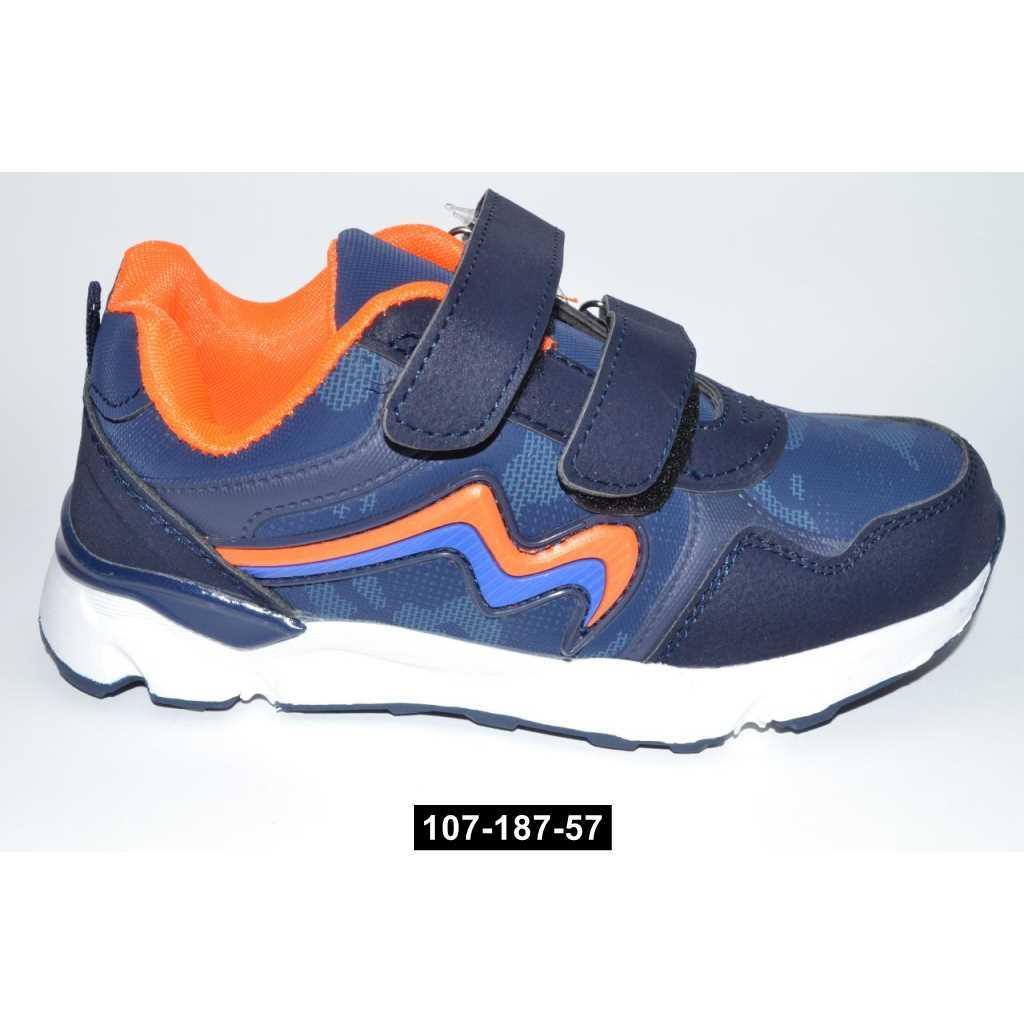 Детские кроссовки, 33 размер / 19.5 см, кожаная стелька, супинатор, 107-187-57