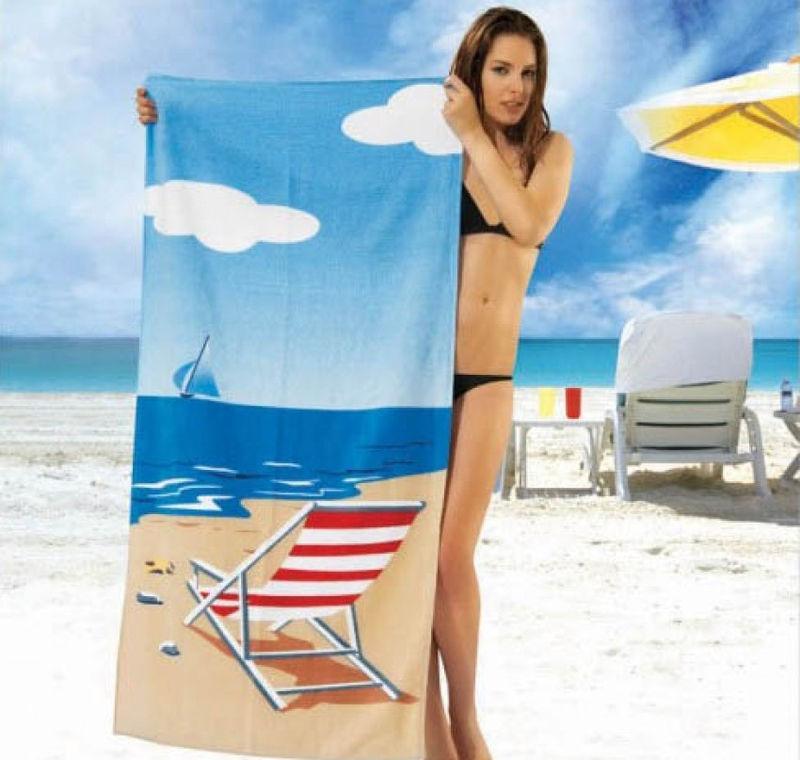 Пляжное полотенце Shamrock с морским пейзажем