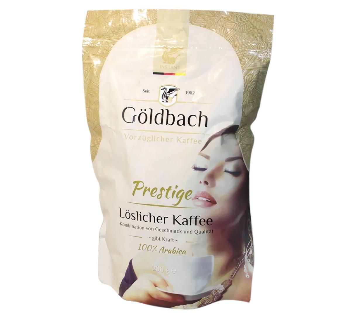 Немецкий растворимый кофе Goldbach Prestige 200 грамм в мягкой упаковке
