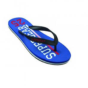 Пляжная синяя обувь Super Gear с белой надписью