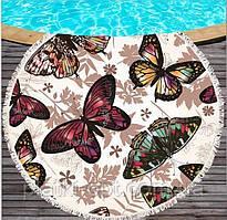 """Пляжное полотенце-покрывало """"Бабочки"""""""