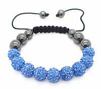 Браслет женский Shamballa, синий