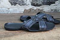 Мужские шлепки летние из натуральной кожи, летняя мужская обувь от производителя модель DF X 2020 41