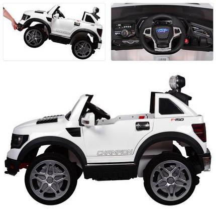 Детский электромобиль на аккумуляторе Bambi Ford Long M 3579EBLR-1 белый, фото 2