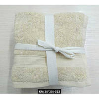 Набор полотенец 30*30 (5шт) Кремовые, KN(30*30)-022