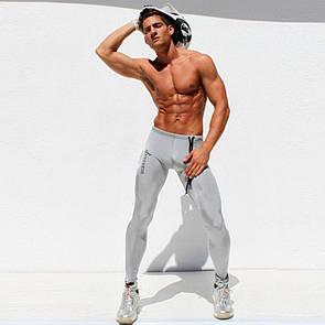 Серебристые спортивные штаны Aqux