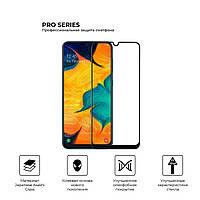 Защитное стекло (полная проклейка) для Samsung A30s/M30s/A30/A50 с улучшенным олеофобным покрытием (55360)