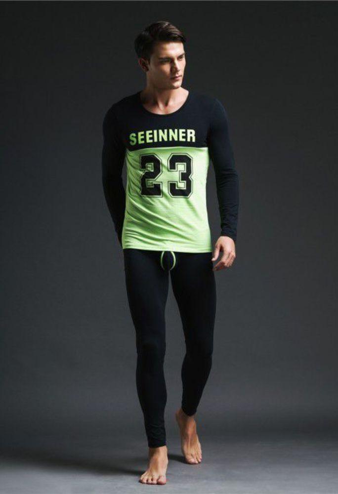 Хлопковый комплект Seeinner. Цвет: черный