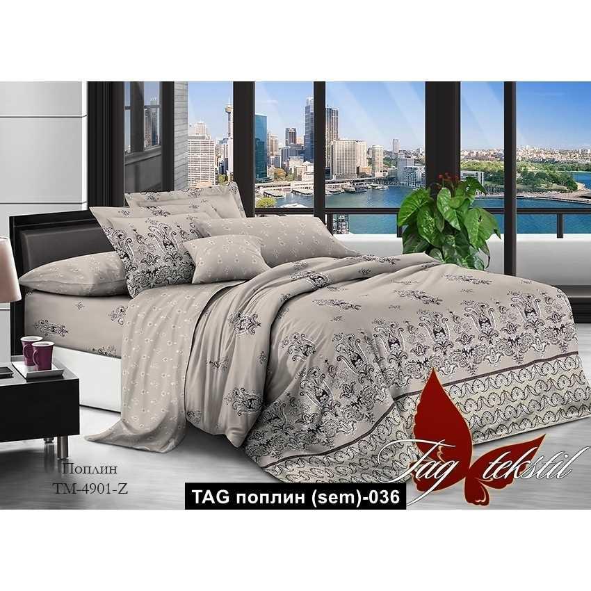 Комплект постельного белья с компаньоном TM-4901Z, TAG поплин (sem)-036