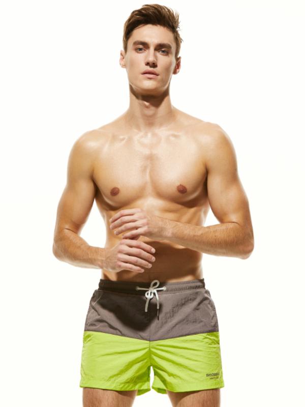 Пляжные двухцветные мужские шорты Seobean