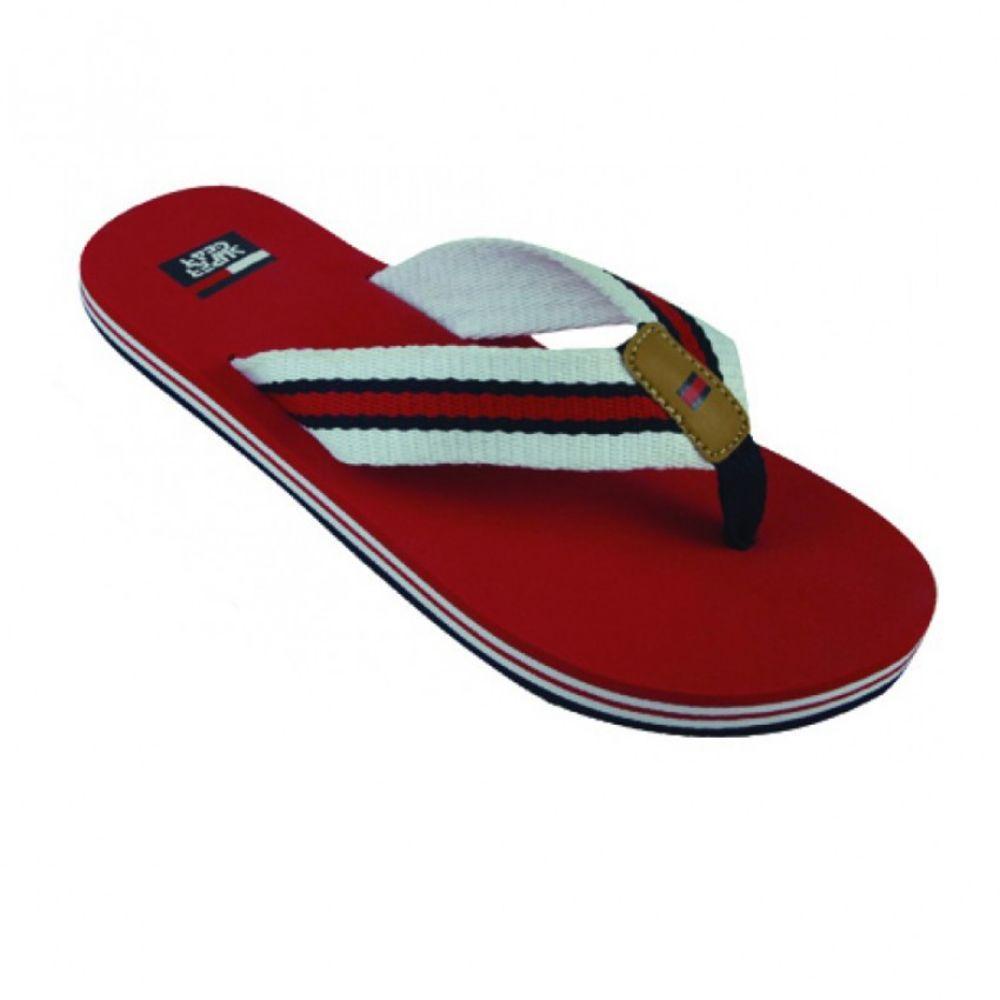 Модні гумові шльопанці Super Gear червоного кольору