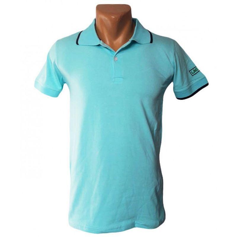 Стильная мужская футболка голубого цвета