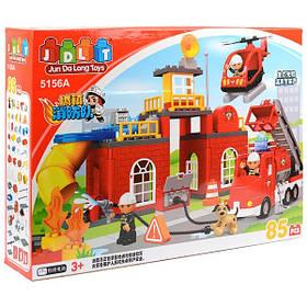 Конструктор JDLT 5156 Пожарная часть 85 деталей