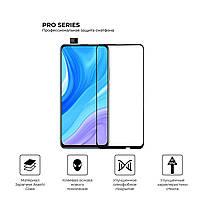 Защитное стекло (полная проклейка) для Huawei P Smart Pro/Honor 9X, улучшенное олеофобное покрытие (56210)