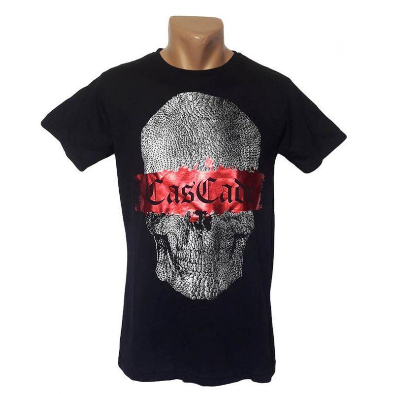 Модная футболка черного цвета большого размера