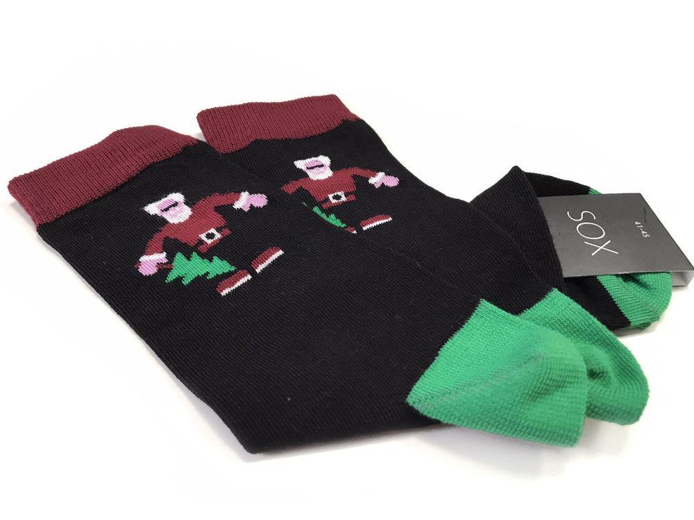 """Стильные новогодние носки """"Bad Santa"""""""