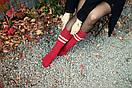 "Теплые носки ""DAMASK"" бордового цвета от Sammy Icon, фото 2"