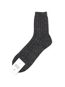 Однотонные зимние носки темно-серого цвета