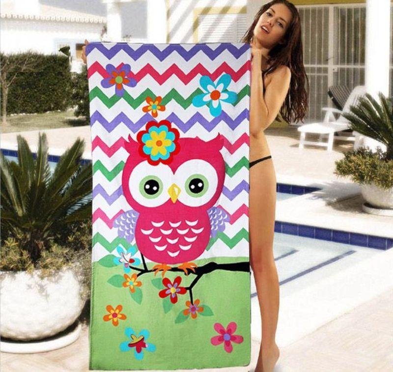 Пляжное детское полотенце с ярким рисунком