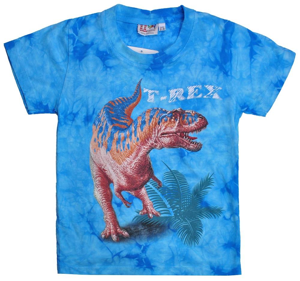 Детская футболка Тиранозавр (Rock Eagle,Tie Dye), Размер 2-4 года