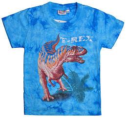 Детская футболка Тиранозавр (Rock Eagle,Tie Dye), Размер 6-8 лет