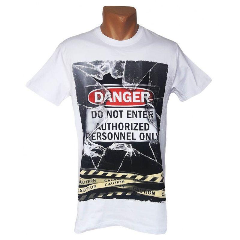 Мужская белая футболка Danger