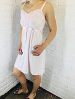 Жіноча нічна сорочка бавовна рожева 503/504 42-46
