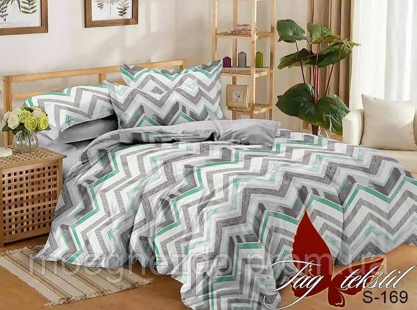 Полуторное постельное белье сатин Таг