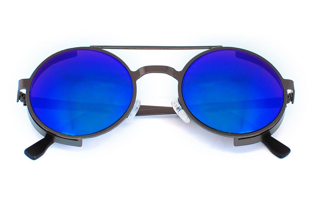Очки солнцезащитные (SG-017) синий хамелеон, утолщенная оправа цвет графит матовый