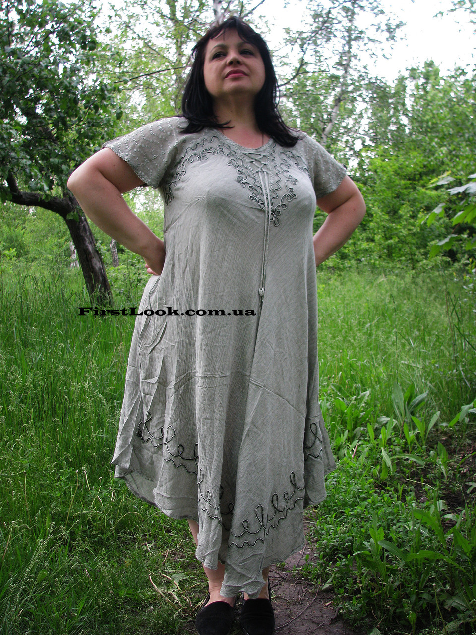 Женское платье летнее- ламбада (с 50 по 58 размер)