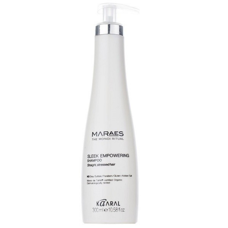 Восстанавливающий шампунь для прямых поврежденных волос  Kaaral Maraes Sleek Empowering Shampoo 300 мл