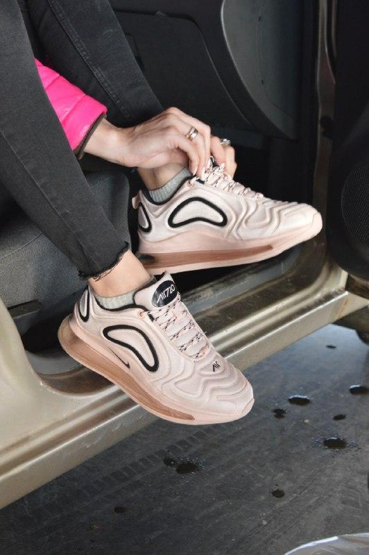 Кроссовки Nike Air Max 720 Pink, Женские, Розовые,Текстиль. Кросівки Жіночі, Рожеві, Текстиль,38-39-40-41