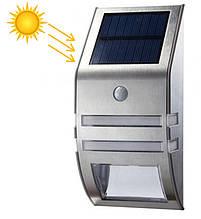 Настенный Фасадный Солнечный Светильник с Датчиком Движения Фонарь Уличный