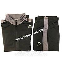 Спортивный костюм мужской оригинальный Reebok Te Tricot Tracksuit D94276 цвет: черный/серый