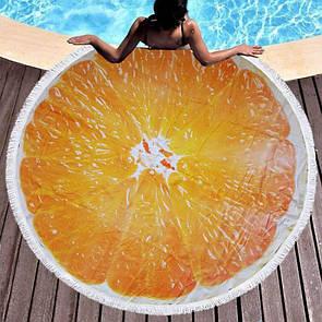 """Яркий пляжный коврик с 3D принтом """"Апельсин"""""""