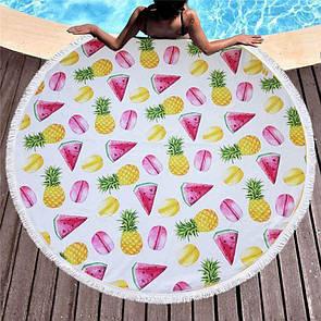 Модное пляжное покрывало круглой формы