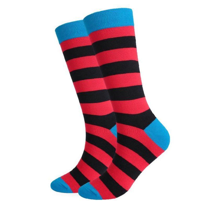 Шкарпетки червоно-чорну смужку від Friendly Socks