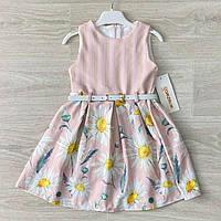 Платье для девочки летнее ромашка размеры 92-110