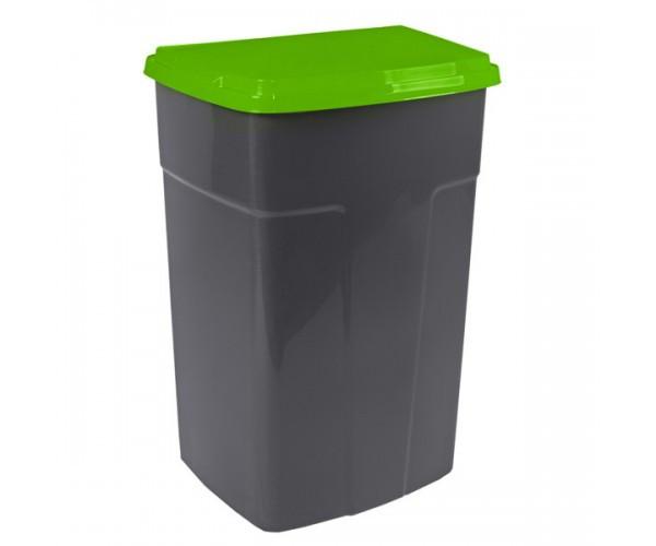 Бак мусорный 90 л. (темно-серо-зеленый)