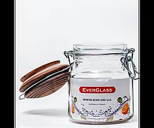 Банку EverGlass 550мл. кришка кераміка з затиском