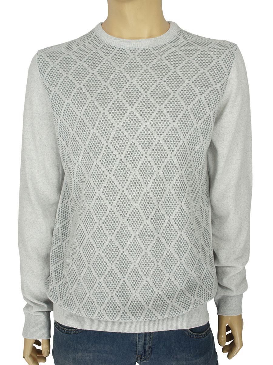 Стильный мужской свитер Yamak 28060 H в сером цвете