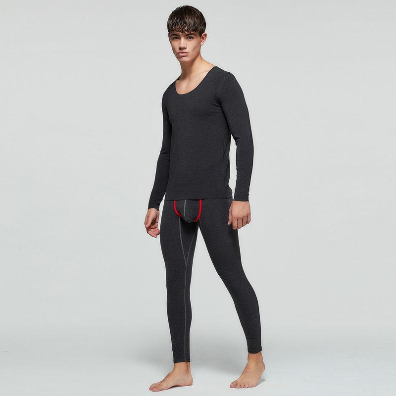 Темно-серый термокомплект белья Seobean: кальсоны + кофта