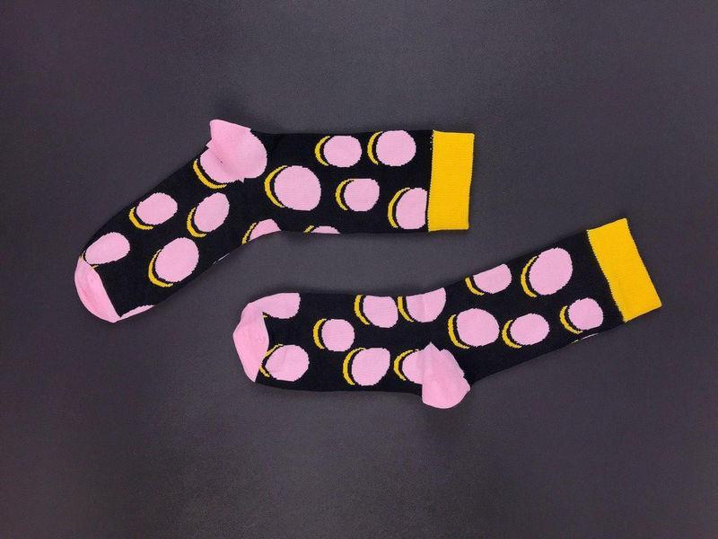 Черные хлопковые носки в горохи от SOX